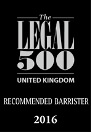 Ranked in Legal 500 2016